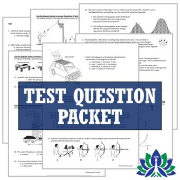 Energy Test (Middle School)   NGSS MS-PS3-1 MS-PS3-2 MS-PS3-5