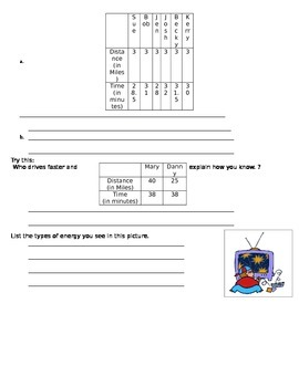 Energy Test Study Guide