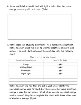 Energy Test and Review