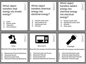 Energy Themed Board Game - Pre-Written & Editable Cards