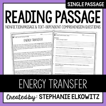 Energy Transfer Reading Passage