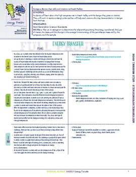Energy Transfer - STEM Lesson Plan With Journal page