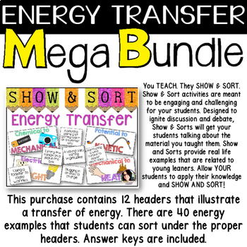 Energy Transfer Science Teaching Bundle - VALUED AT $8.00 *3 PRODUCTS IN 1*