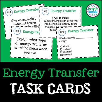 Energy Transfer Task Cards