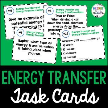 Energy Transfer Task Cards