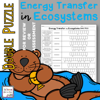 Energy Transfer in Ecosystems Double Puzzle for Review or Assessment