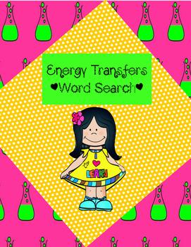 Energy Transfers Word Search *FREEBIE*