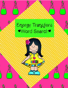 Energy Transfers Word Search *FREEBIE*
