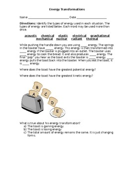 Energy Transformation Activities