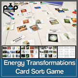 Energy Transformation Card Game (or Card Sort) Formative A