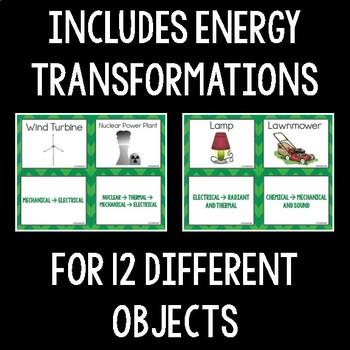 Energy Transformation Card Sort
