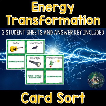 Energy Transformation Card Sort