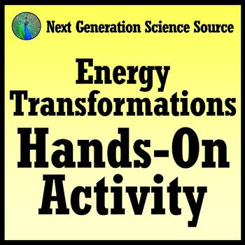 Quick + Easy Energy Transformation Hands-On Activity NGSS MS-PS3-2 MS-PS3-5