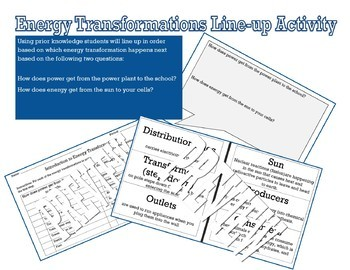 Energy Transformation Line Up Activity