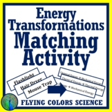 Energy Transformations Matching Middle School Activity - Forms of Energy