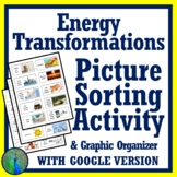 Energy Transformations Pictures Sorting & Graphing Organizer Activity MS-PS3