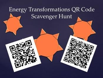 Energy Transformation QR Code Scavenger Hunt