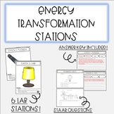 Energy Transformation Stations with STAAR Questions