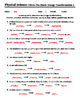 Energy Transformations #2 - Worksheet - Fill-In-The-Blank