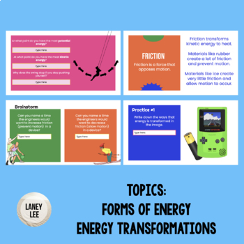 Energy Transformations Power Point and Student Notes