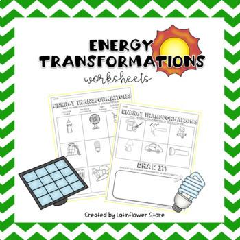 Energy Transformation Worksheet Teaching Resources Teachers Pay