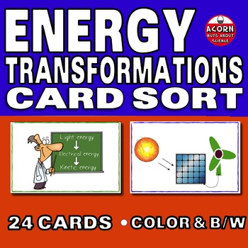Energy Transformations Card Sort