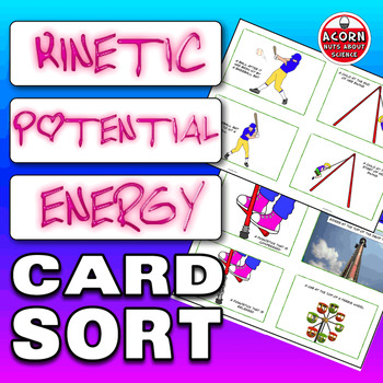 Kinetic and Potential Energy Card Sort