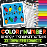 Energy Transformations -  Christmas Science Color By Number