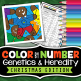 Genetics and Heredity - Christmas Science - Color By Number