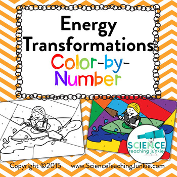 Energy Transformations Color By Number By Science Teaching Junkie Inc