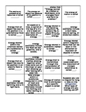 Energy Transformations Definitions Card Sort