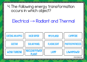 Energy Transformations - Digital Boom Cards™ Sort
