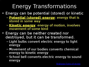Energy Transformations - How Energy is Transformed