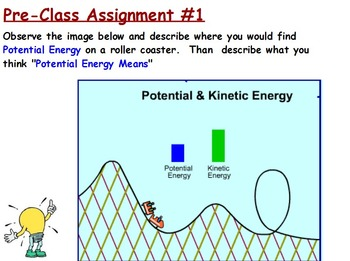 Energy Transformations - Potential Energy w/Worksheet (POWERPOINT)