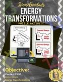 Energy Transformations - Puzzle Activity