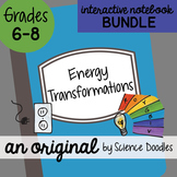 Energy Transformations Interactive Notebook Doodle BUNDLE - Science Notes