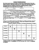 Energy Transformations Worksheet
