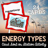 Energy Types Card Sort or Lab Station Activity
