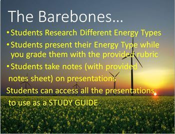 (Project-Based Learning) Energy Types Research Presentation