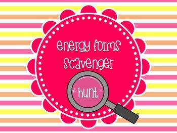Energy Types Scavenger Hunt