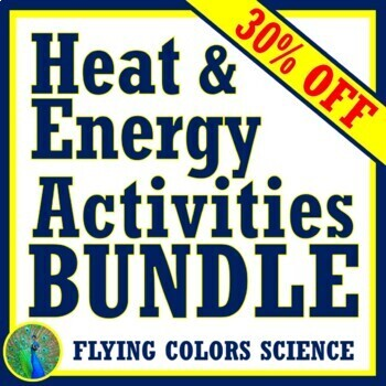 NGSS Energy & Heat Unit ACTIVITY BUNDLE for Middle School **SAVE 30%!**