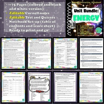 Energy, Work, and Simple Machines Unit Bundle (5 Lessons, Projects, & More)