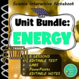 Energy Work & Simple Machines Notebook Bundle | Physical S