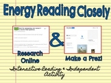 Energy Reading Closely