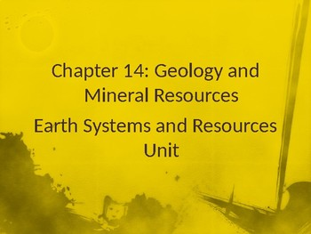 Energy Unit (Earths Resources, Nonrenewable Energy and Renewable Energy