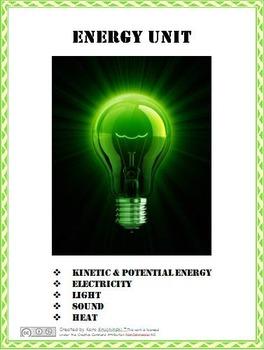 Energy Unit:  Electricity, Light, Sound, & Heat