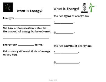 Energy Unit Lesson Plans TEKS Science
