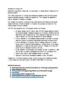 Energy Unit Problem Based Learning