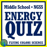 Energy Unit Quiz - Kinetic & Potential Energy, Forms of Energy, Transformations