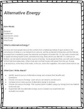 Energy Unit Study